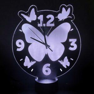 led lamp klok vlinders