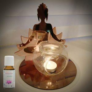 geurbrander buddha met lotus
